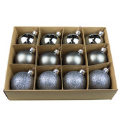 Graphite 48mm Baubles - Graphite