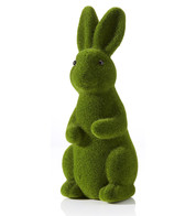 Green Flocked Rabbit - Green