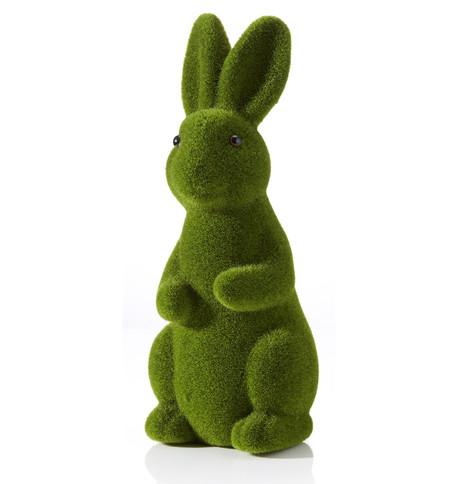 Green Flocked Rabbit Green
