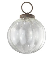 Clear Glass Segment Baubles - Clear