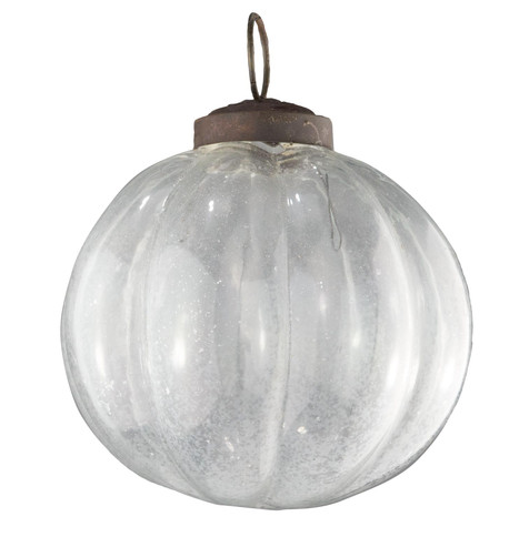 Clear Glass Segment Baubles Clear