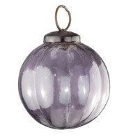 Purple Glass Segment Baubles - Purple