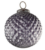 Purple Glass Hobnail Baubles - Purple