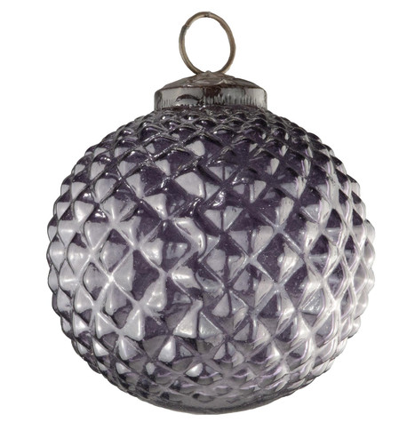 Purple Glass Hobnail Baubles Purple