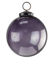 Clear Purple Glass Baubles - Purple