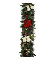 Luxury Red and Gold Christmas Garland - Red And Gold