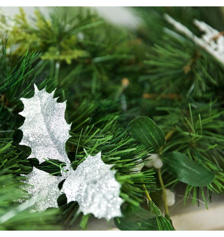 Luxury Silver Christmas Garlands Silver