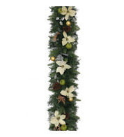 Luxury Christmas Garland in Silver and Bronze - Silver