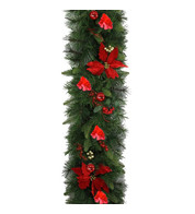 Luxury Red Themed Christmas Garlands - Red