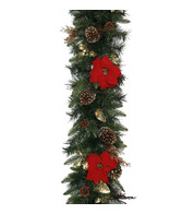 Luxury Red Poinsettia Garlands - Red