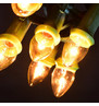 Traditional Filament Festoon Lights Warm White On Green