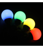 Multi Colour Festoon Lights - Multi Colour on Black Cable
