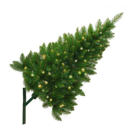 Wall Mounted Christmas Trees - Warm White Sparkling Lights Warm White - Sparkling Lights