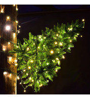 Wall Mounted Christmas Trees - Warm White Static Lights - Warm White - Static Lights