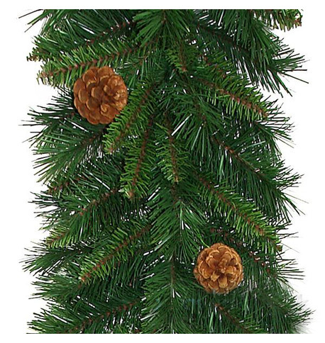 Pine Cone Christmas Garland Green