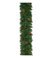 Pine Cone Christmas Garland - Green