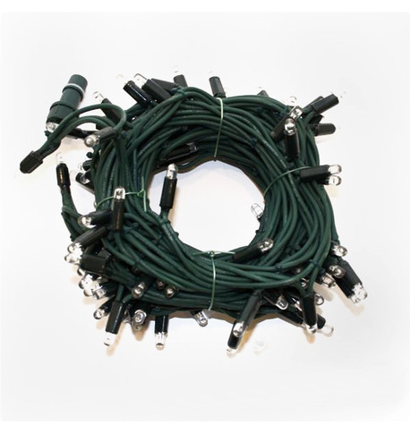 Outdoor String Lights - Pro Series Static Warm White on Green Cable Warm White On Green Cable