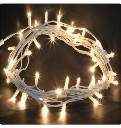 Outdoor String Lights - Pro Series Static Warm White on White Cable Warm White on White Cable