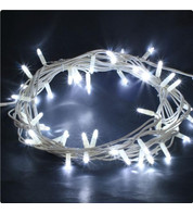 Outdoor String Lights - Static Ice White on White Cable - Ice white