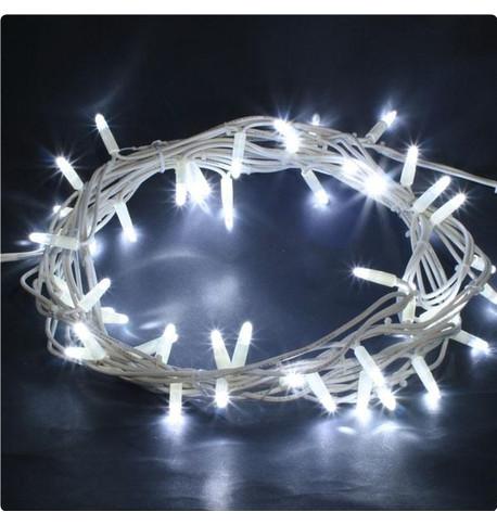 Outdoor String Lights - Pro Series Flashing Ice White on White Cable Ice White on White Cable