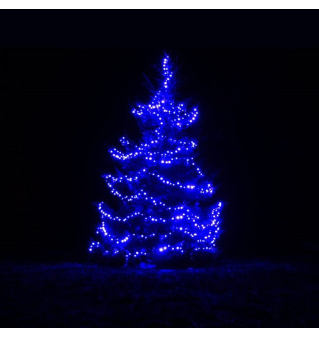 Outdoor String Lights - Pro Series Sparkling Blue on Green Cable Blue on Green Cable