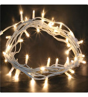 Outdoor String Lights - Pro Series Sparkling Warm White on White Cable - Warm White