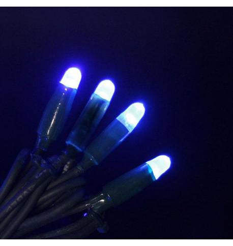 Pro Series Icicle Lights Static Blue on Green Cable Blue on Green Cable