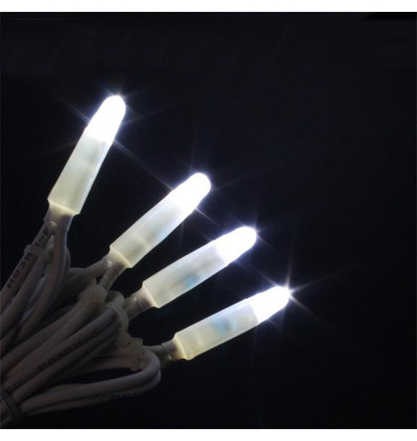 Pro Series Icicle Lights Static Ice White on White Cable Ice White on White Cable