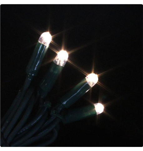 Pro Series Icicle Lights Static Warm White on Green Cable Warm White On Green Cable