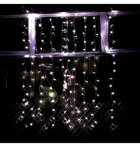 Elements Range Curtain Lights - Ice White Ice White On Clear