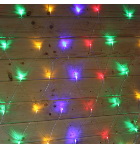 Elements Net Lights - Multicoloured on Clear Cable Multi on Clear