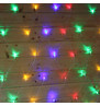 Elements Range Net Lights - Multicoloured on Clear Cable Multi on Clear