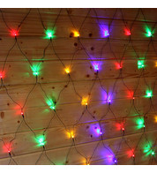 Elements Net Lights - Multicoloured on Green Cable - Multicolour