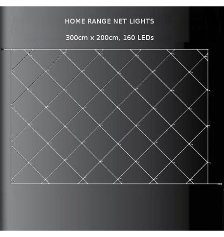 Elements Net Lights - Warm White on Clear Cable Warm White On Clear