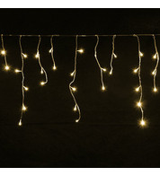 Home Range Icicle Lights - Warm White on Clear Cable - Warm White