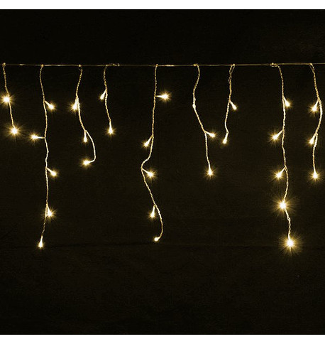Elements Icicle Lights - Warm White on Clear Cable Warm White On Clear