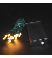 Outdoor Battery Operated Christmas Lights - Warm White