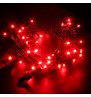 Indoor LED String Lights Static Red on Green Cable Red on Green Cable