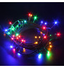 Indoor LED String Lights - Flashing Multicolour On Green Cable
