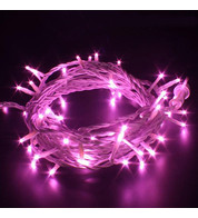 Indoor LED String Lights - Flashing - Pink