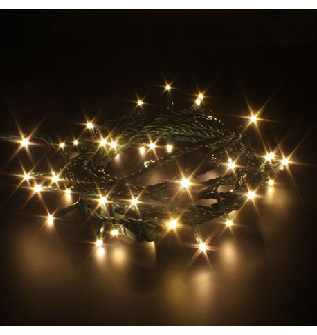 Indoor LED String Lights - Flashing Warm White on Green Cable Warm White On Green Cable