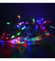Elements Range Connectable Low Voltage Micro LEDs - Multicoloured on Clear Cable - Multicolour