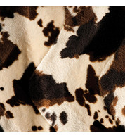 RODEO COW TEXTURED VELVET - Brown