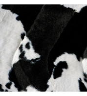 COW TEXTURED VELVET - Black and White