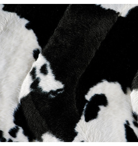 COW TEXTURED VELVET Black and White