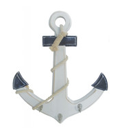 Wooden Anchor - Blue