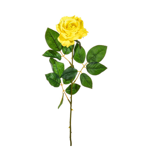 Artificial Rose Yellow - Pack of 3 Yellow