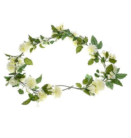 Flower Garland - Cream Cream