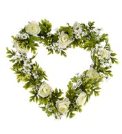 Rose and Daisy Heart - Cream