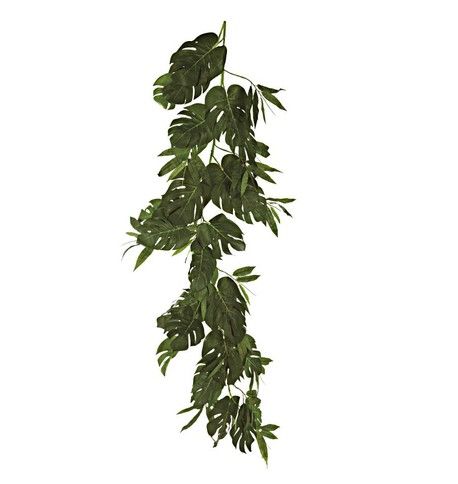 Split Philodendron Garland Green